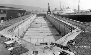 The Duke of Edinburgh Dry Dock with Palmers on the right
